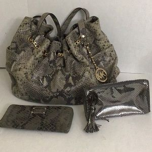 Michael Kors Handbag, Wallet and Cosmetic Bag